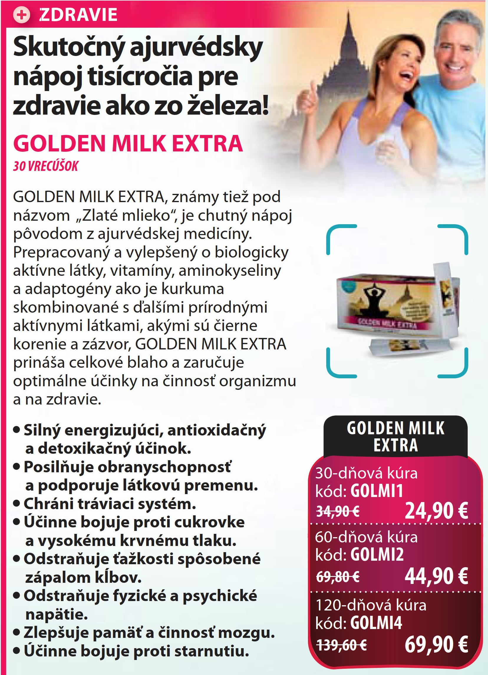 Ajurvédky golden milk