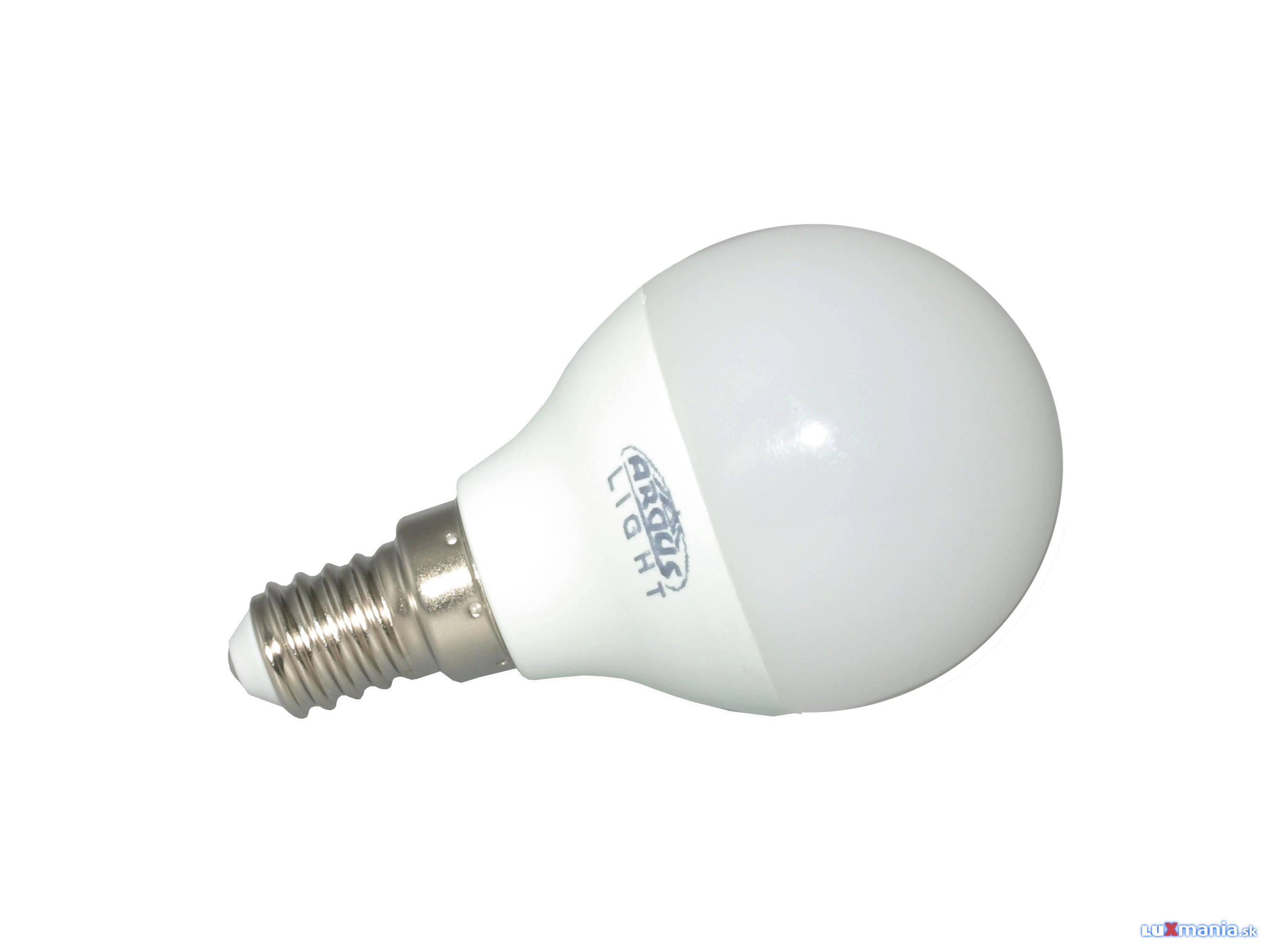 ARGUS LIGHT LED - E14 - G45 - 5,5W - 500lm - NW-neutrálna