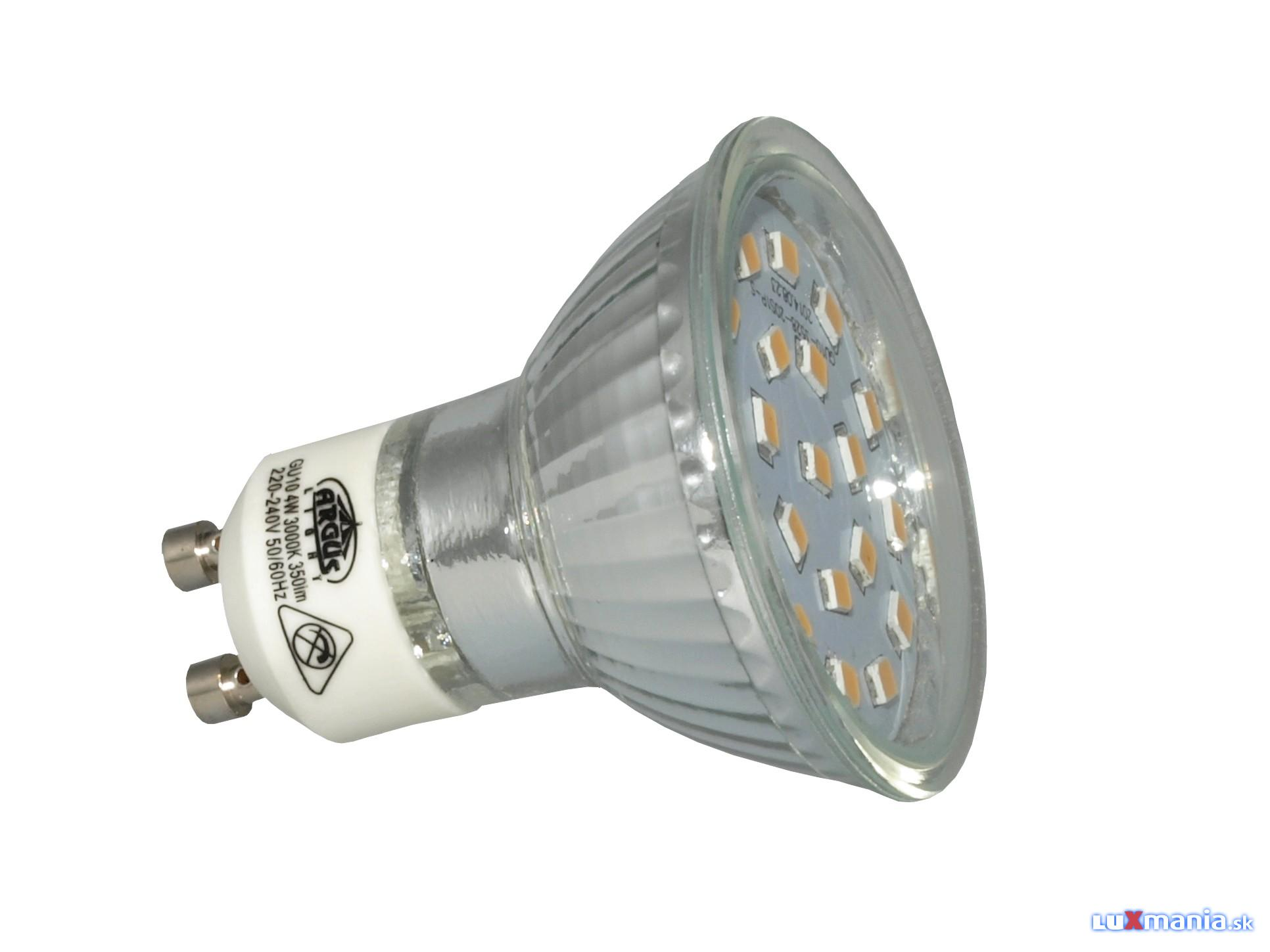 ARGUS LIGHT LED - GU10 - 4,0W - 350lm - WW-teplá