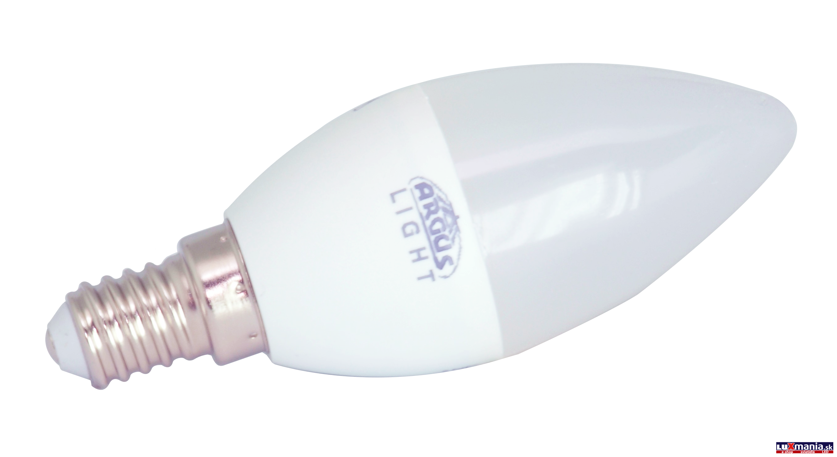 ARGUS LIGHT LED - E14 - C37 - 5,5W - 480lm - NW-neutrálna